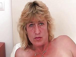 blonde fingering granny masturbation mature milf pussy solo toys