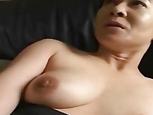 couple double-penetration hairy japanese mature milf wife