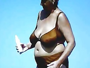amateur beach bus busty granny mature