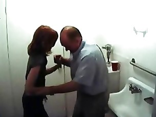 amateur bathroom blowjob daddy