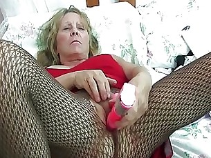 blonde boobs granny lingerie masturbation milf nylon panties solo