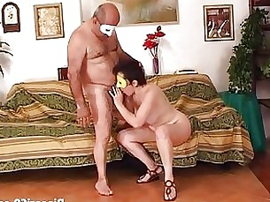 blowjob brunette couple fuck mature