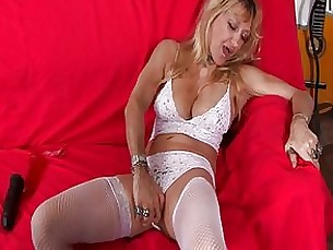 anal blonde horny lingerie masturbation mature shaved solo toys