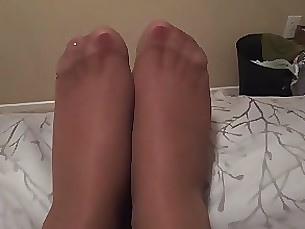 fetish foot-fetish juicy milf nylon