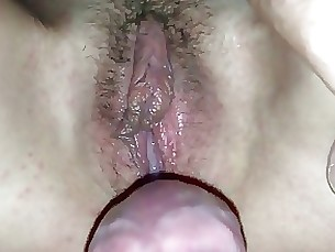 amateur creampie fuck hairy mature pussy