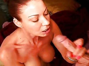 masturbation handjob couple brunette cumshot blowjob whore mature