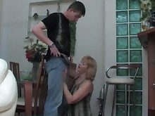 mature old-and-young pussy stocking teen blonde blowjob fuck granny
