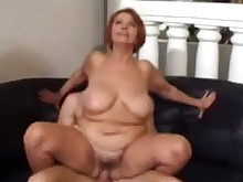 blowjob bbw fuck granny hardcore mature old-and-young pussy redhead