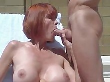 blowjob cumshot facials hot mammy mature outdoor redhead sperm
