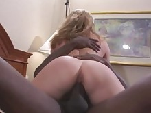 milf pussy rimming shaved ass blonde creampie homemade interracial