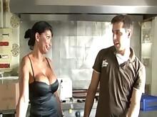 big-tits blowjob boobs hot kitchen mammy milf