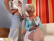 ass blonde glasses granny hairy mammy mature
