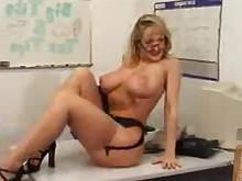 ass big-tits blonde dildo glasses masturbation mature milf solo