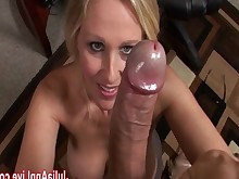 huge-cock ass milf babe oral big-tits secretary blowjob stocking
