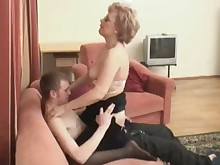black blonde couch fuck hot mammy stocking