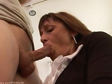 blowjob boss brunette doggy-style granny hidden-cam high-heels mammy mature