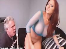 big-tits licking milf pussy slave wet mistress