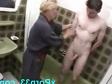 bathroom blowjob cumshot fuck hot mammy mature oral shower