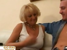 blonde bbw fatty granny mammy mature mouthful old-and-young sperm