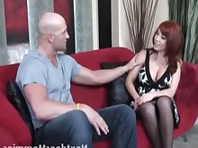 blowjob couch cougar deepthroat fuck high-heels kiss licking mature