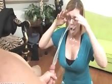 big-tits cumshot handjob hot jerking mature milf