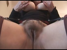 upskirt panties hairy pussy playing skirt solo stocking striptease
