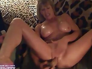boss cougar granny mammy masturbation mature milf oil pussy