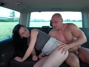 amateur anal ass brunette bus cumshot doggy-style fuck hardcore