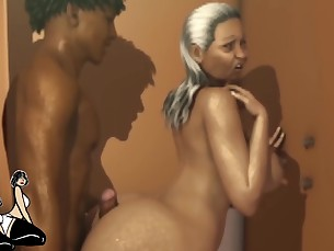anime ass big-tits black car big-cock creampie doggy-style ebony