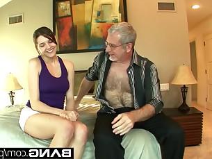 blowjob brunette couple daddy gang-bang hardcore licking mammy mature