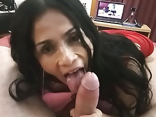 amateur babe blowjob big-cock cumshot horny hot housewife huge-cock