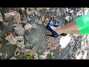 feet fetish foot-fetish high-heels mammy milf outdoor pov mistress