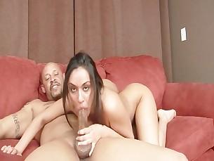 ass big-tits blowjob brunette big-cock deepthroat interracial mammy milf