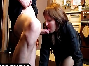 amateur blowjob homemade hot housewife kitchen mammy milf really