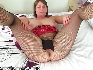 brunette cougar mammy masturbation mature milf nylon panties toys
