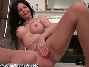 dildo granny innocent mature milf nylon panties pussy striptease