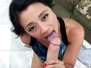 blowjob brunette close-up big-cock cumshot doggy-style filipina fingering hardcore