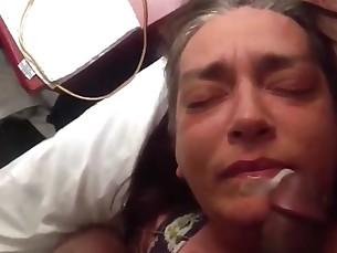 amateur anal ass creampie fuck granny mature