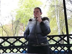 amateur brunette fetish mature outdoor smoking