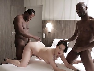 ass bedroom black blowjob brunette big-cock cumshot fuck hot