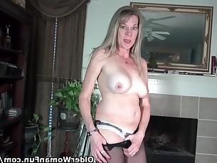 fetish mammy mature milf nylon panties playing pov striptease