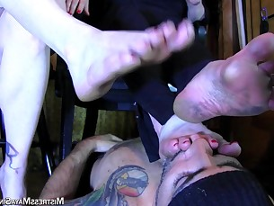 bbw feet foot-fetish mature nasty threesome