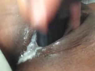 amateur cumshot dildo ebony masturbation milf pussy slender