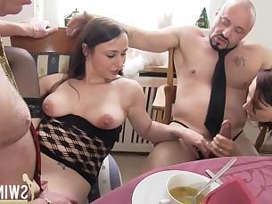 amateur big-tits blowjob boobs brunette cumshot doggy-style hd hot