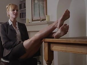 blonde domination feet fetish foot-fetish hidden-cam high-heels mammy milf