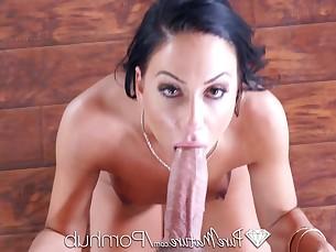 blowjob brunette big-cock cumshot facials fuck hardcore hd lingerie