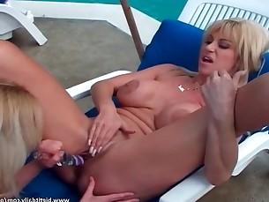 big-tits blonde boobs hot lesbian mammy milf outdoor toys