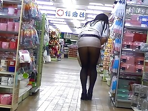 ass fetish high-heels japanese juicy milf nylon panties public