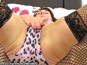 dildo fuck granny hairy masturbation mature milf nylon pussy